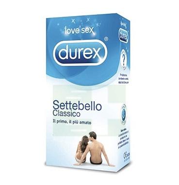 Durex Linea Classica Settebello Cassico Condom Confezione con 6 Profilattici