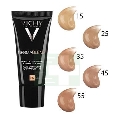 Vichy Make-up Linea Trucco Dermablend Fondotinta Correttore Fluido 30 ml 45