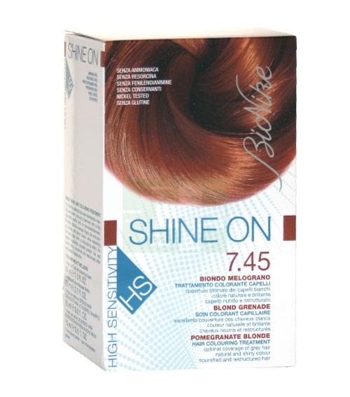 BioNike Linea Colorazione Shine ON HS Trattamento Capelli 7.45 Biondo Melograno