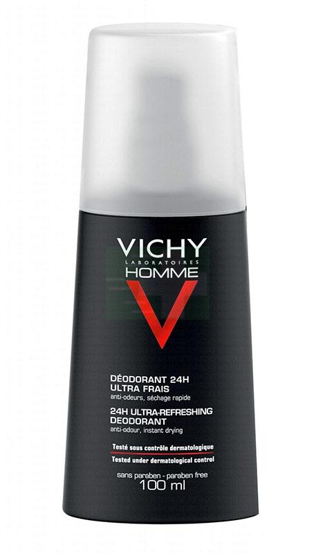 Vichy Linea Homme Deo Deodorante Uomo Vapo Ultra Fresco Anti-Cattivi Odori 100ml