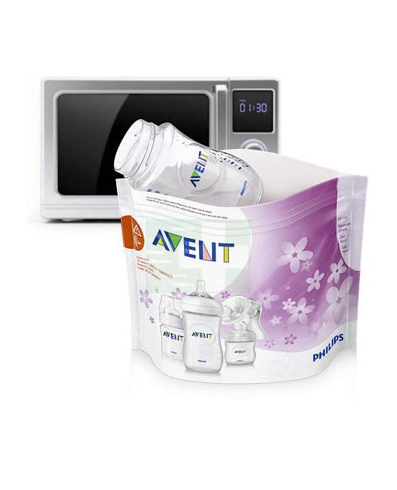 Avent Linea Sterilizzazione Accessori 5 Buste per Sterilizzazione in Microonde