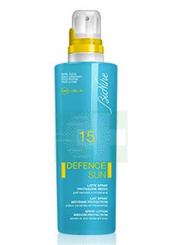 BioNike Linea Defence Sun SPF15 Latte Spray Corpo Pelli Sensibili 200 ml