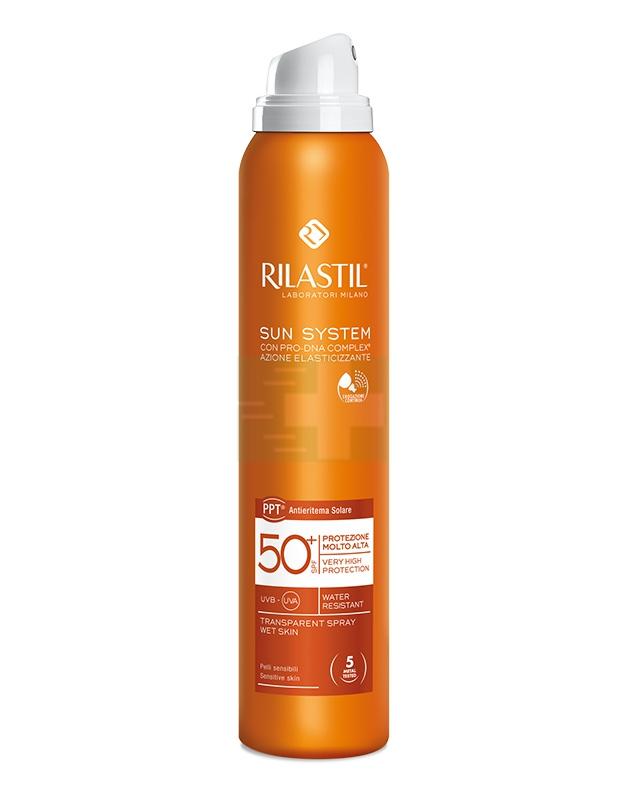 Rilastil Linea Sun System PPT SPF50+ Spray Trasparente Elasticizzante 200 ml