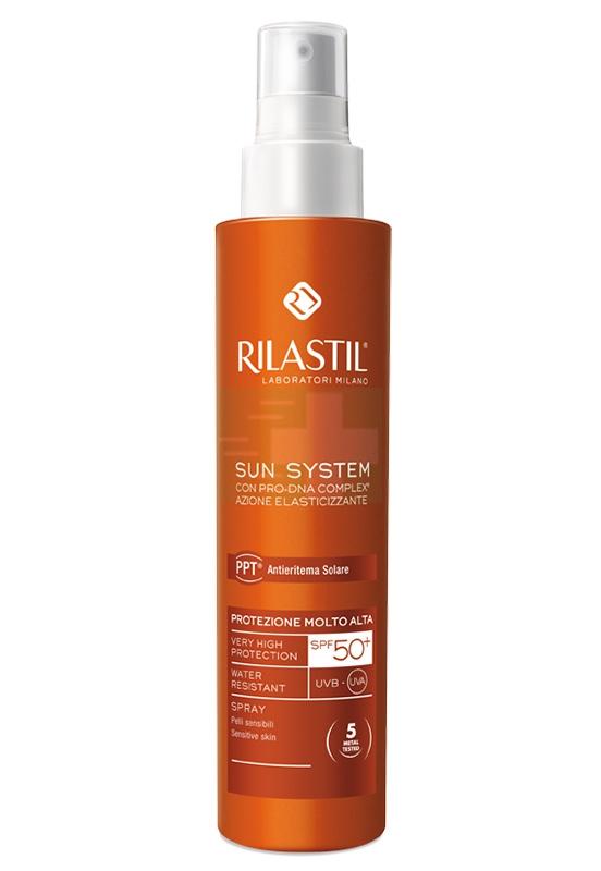 Rilastil Linea Sun System PPT SPF50+ Spray Solare Elasticizzante Corpo 200 ml