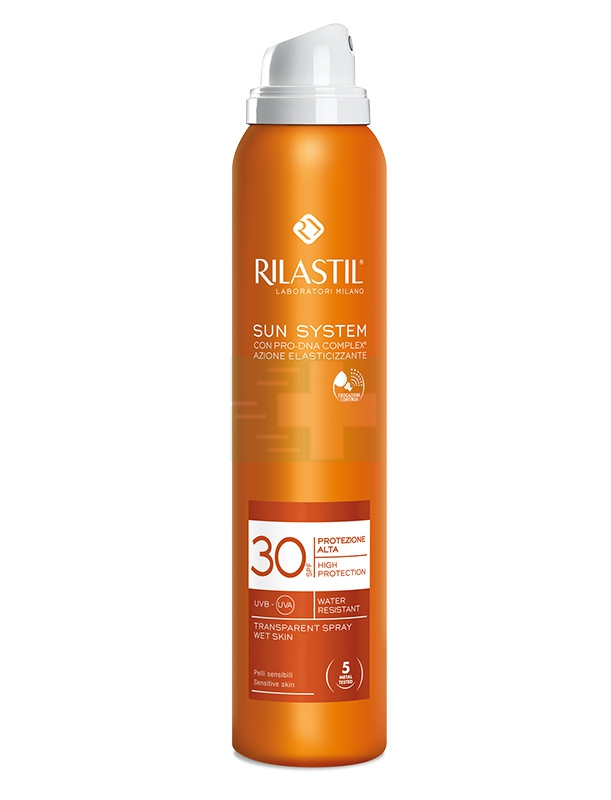 Rilastil Linea Sun System PPT SPF30 Spray Trasparente Elasticizzante 200 ml