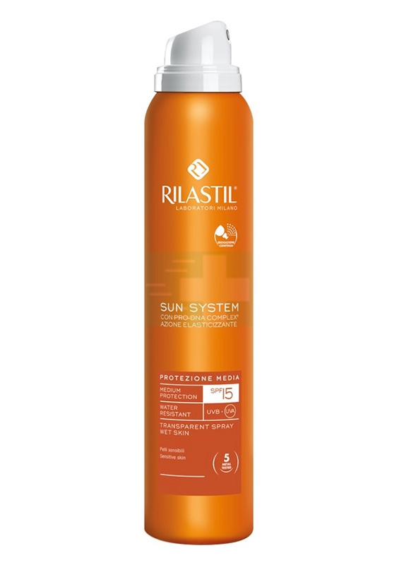 Rilastil Linea Sun System PPT SPF15 Spray Trasparente Elasticizzante 200 ml