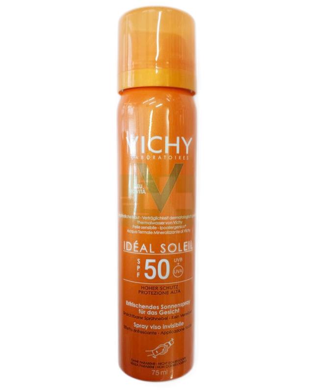 Vichy Linea Ideal Soleil SPF50 Viso Spray Solare Protettivo Invisibile 75 ml