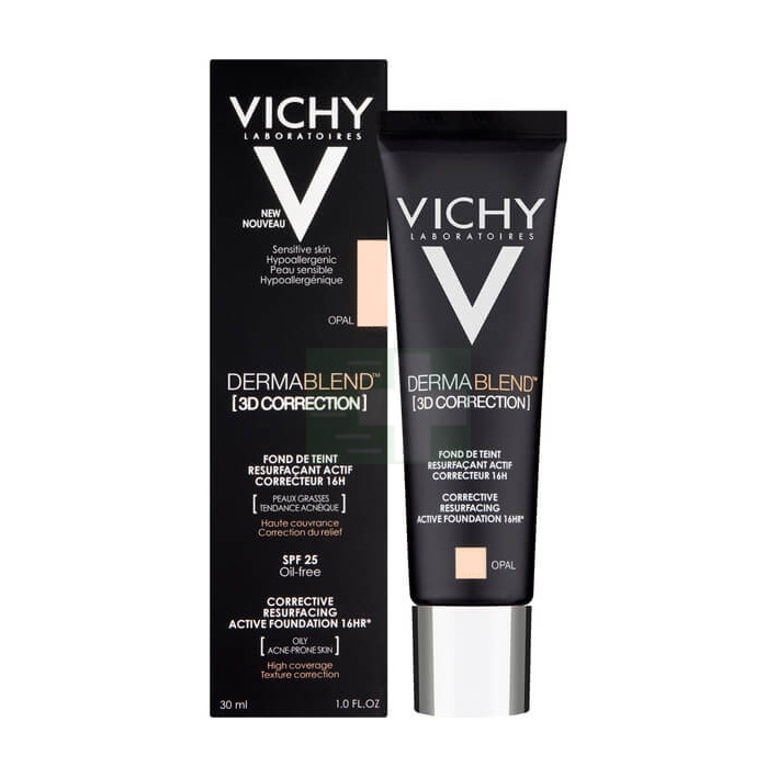 Vichy Make-up Linea Dermablend 3D Correction Fondotinta Elevata Coprenza Opale